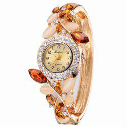 Lvpai P041 Women Unique Crystals Bangle Quartz Watches -