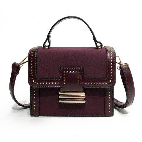 Best Fashion Wild Rivets Shoulder Messenger Hand Small Square Package
