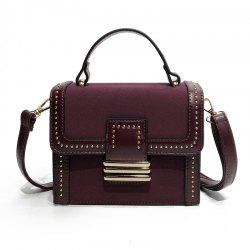 Fashion Wild Rivets Shoulder Messenger Hand Small Square Package -