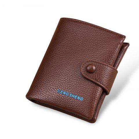 Boutons pour hommes Short Original Leather Wallet Soft Vertical Section