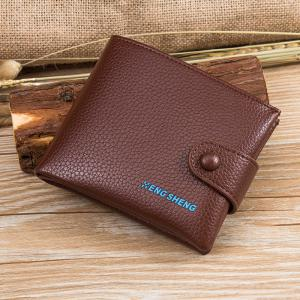 Boutons pour hommes Short Original Leather Wallet Soft Cross Section -