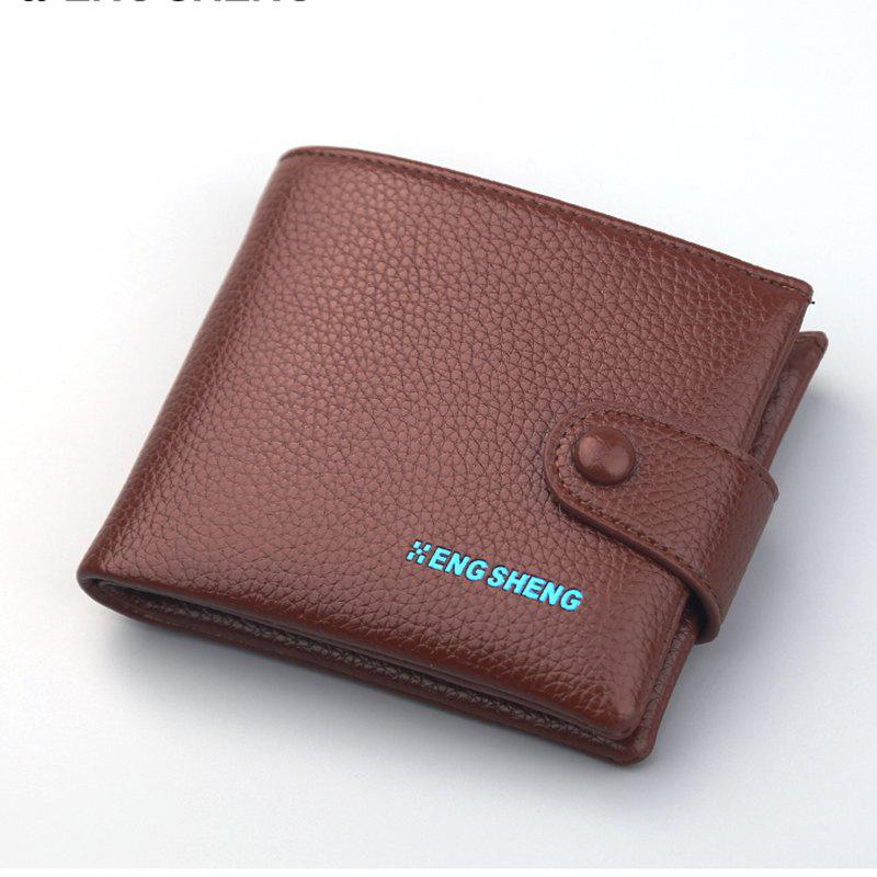 Boutons pour hommes Short Original Leather Wallet Soft Cross Section