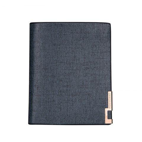 Local Gold Man Short Portefeuille Classique Business Soft Leather Dossier Vertical Section