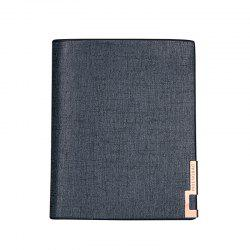 Local Gold Man Short Portefeuille Classique Business Soft Leather Dossier Vertical Section -