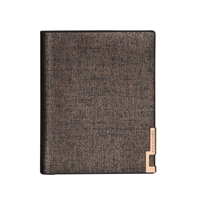 Sale Local Gold Man Short Wallet Classic Business Soft Leather Folder Vertical Section