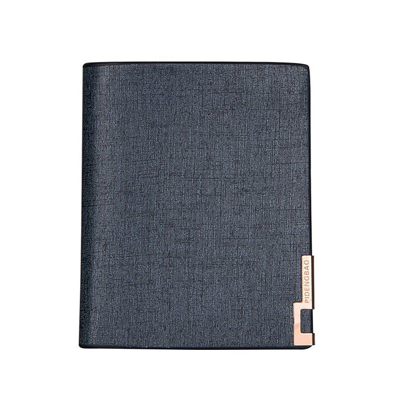 Trendy Local Gold Man Short Wallet Classic Business Soft Leather Folder Vertical Section