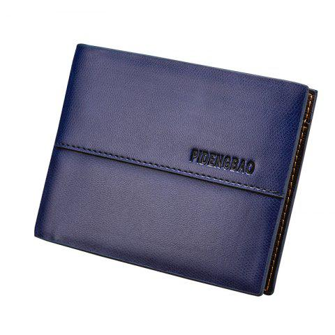 Buy Men's Wallet Short Smooth Pattern Europe and The United States New Soft Multi-Card Cross-Section Ticket Holder