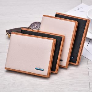New Men's Short Wallet High-End Fashion Cross Section Multi-card Package -