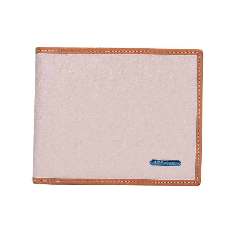 Affordable New Men's Short Wallet High-End Fashion Cross Section Multi-card Package