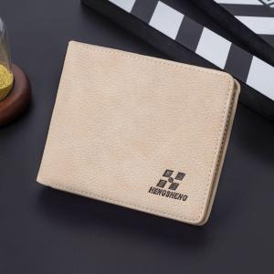 Short Wallet Male Slim Cross-section Men's Multi-card Student Fashion -