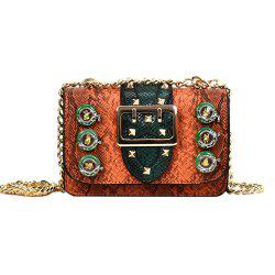 Chain Color Package Serpentine Female Messenger Bag -