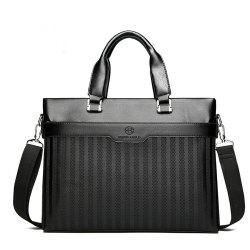Laptop Shoulder Messenger Handbag Business Men's Cross-section Briefcase -