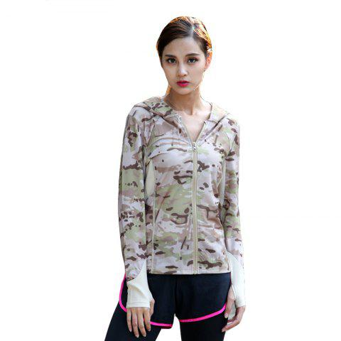 Sale Stretch Camouflage Breathable Quick-Drying Ladies Hooded Outdoor Sports and Leisure Long-Sleeved Coat