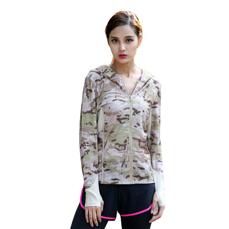 Best Stretch Camouflage Breathable Quick-Drying Ladies Hooded Outdoor Sports and Leisure Long-Sleeved Coat