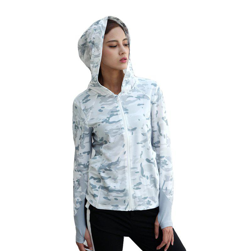 Discount Stretch Camouflage Breathable Quick-Drying Ladies Hooded Outdoor Sports and Leisure Long-Sleeved Coat