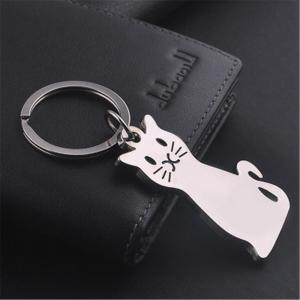 Exquisite Fashion Cat Metal Key Chain Buckle -