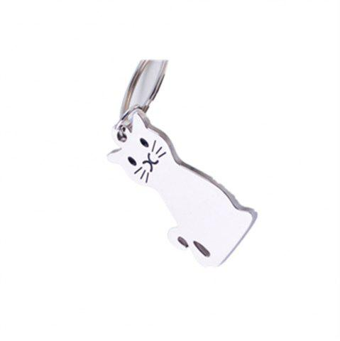 Online Exquisite Fashion Cat Metal Key Chain Buckle