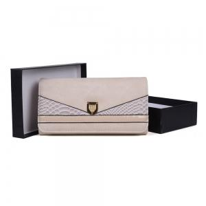 Women's Wallet Color Contrast Sneak Stria Stylish Ladylike Bag -