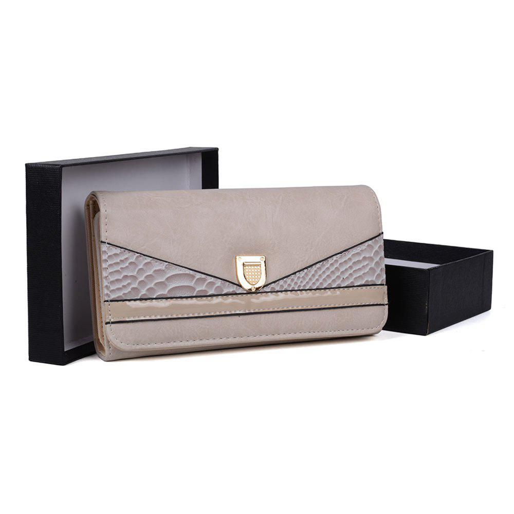 Outfit Women's Wallet Color Contrast Sneak Stria Stylish Ladylike Bag