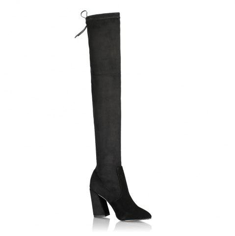 Cheap 2018 New High Heel Suede Boots