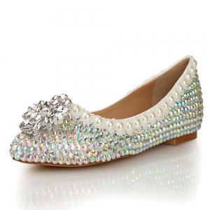 2018 New Colorful Diamond Flat Comfortable Shoes -