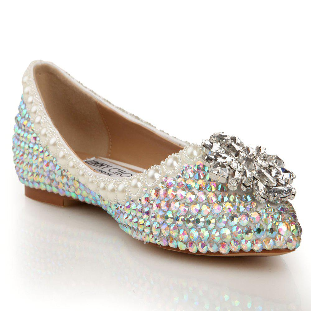 Fancy 2018 New Colorful Diamond Flat Comfortable Shoes