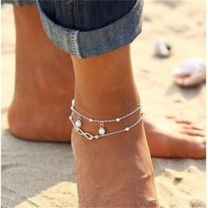 Fashion Lady Lucky Number 8 Pendant Jewelry Anklets -