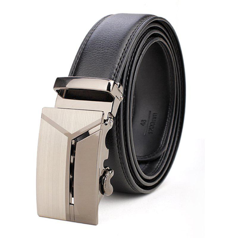 Fashion Men's Business Casual Button Leather Belt