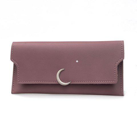 Affordable Women's New PU Wallet Coin Purse Fashion Star Crescent Clasp Clutch