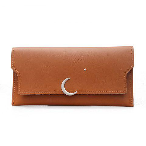 Outfit Women's New PU Wallet Coin Purse Fashion Star Crescent Clasp Clutch