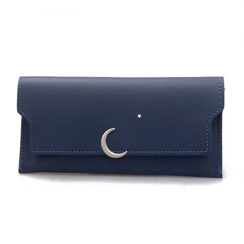 Latest Women's New PU Wallet Coin Purse Fashion Star Crescent Clasp Clutch