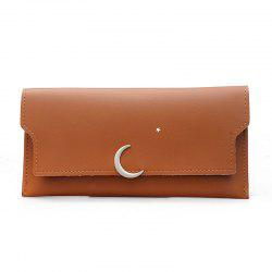 Women's New PU Wallet Coin Purse Fashion Star Crescent Clasp Clutch -