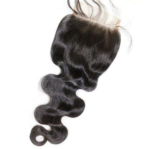Outfits Body Wave Natural Color Brazilian Human Virgin Hair Lace Closure 1pc