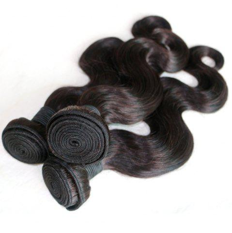 Outfit Body Wave 100 Percent Natural Color Malaysian Human Virgin Hair Weave 3pcs