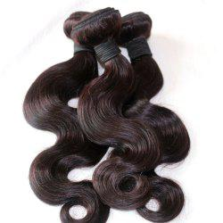 Body Wave 100 Percent Natural Color Malaysian Virgin Hair Weave 4pcs -