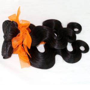 Body Wave 100 Percent Natural Color Indian Human Hair Weave 4pcs -