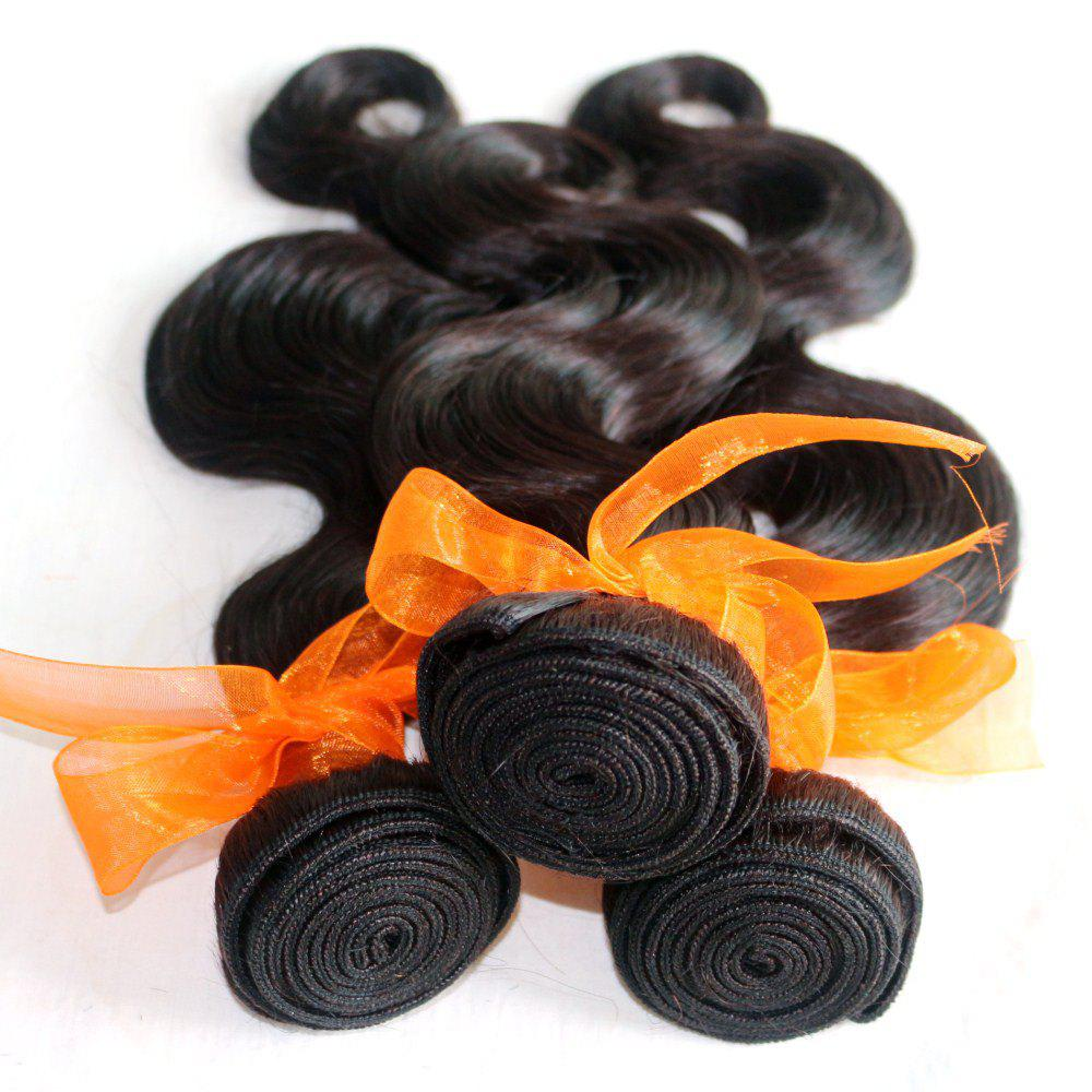 Fashion Body Wave 100 Percent Natural Color Indian Human Hair Weave 4pcs
