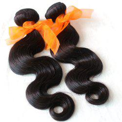 Body Wave 100 Percent Natural Color Indian Virgin Hair Weave 2pcs -