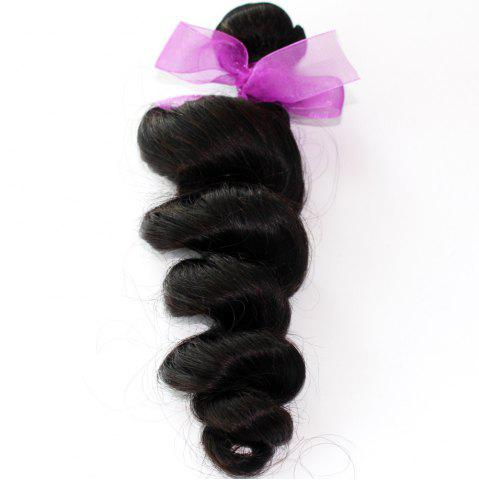 Fancy Loose Wave Natural Color 100 Percent Peruvian Human Hair Weave 1pc
