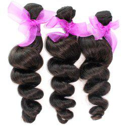 Loose Wave Natural Color 100 Percent Peruvian Human Virgin Hair Weave 3pcs -