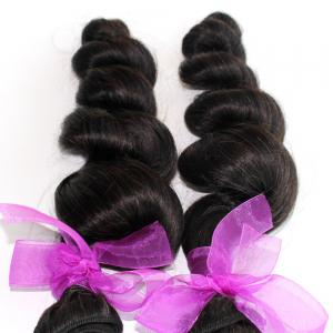 Loose Wave Natural Color Peruvian Human Virgin Hair Weave 4pcs -