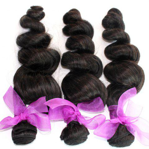 Outfit Loose Wave Natural Color Peruvian Human Virgin Hair Weave 4pcs