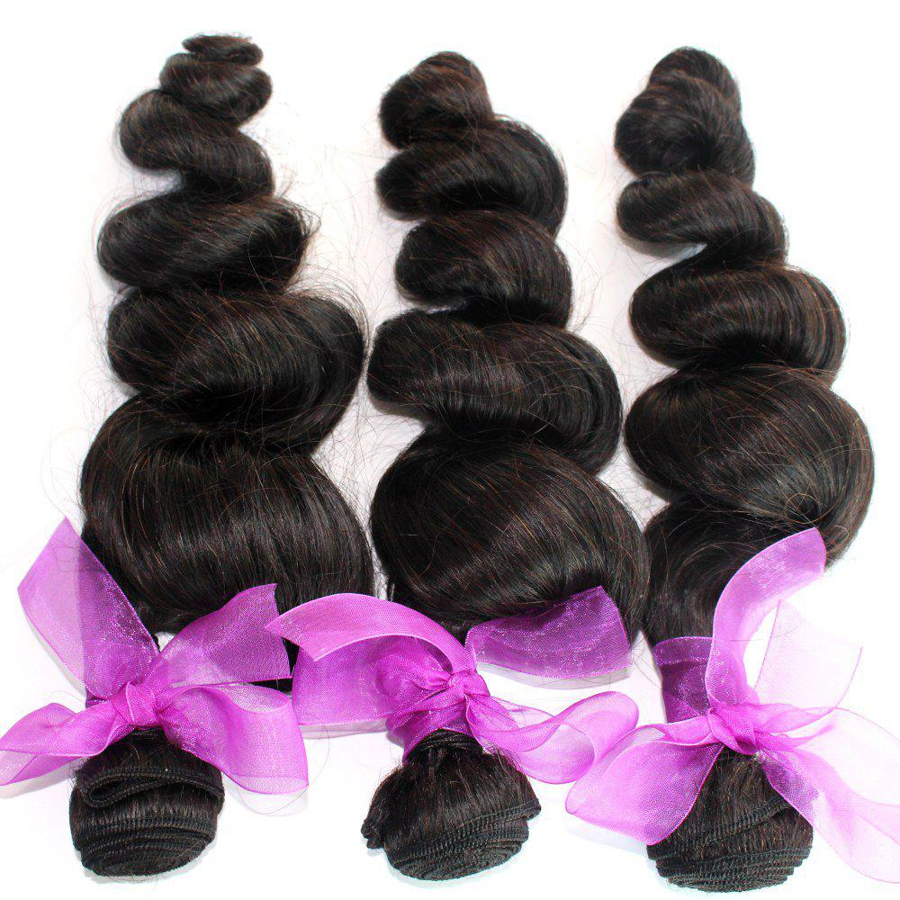 Fashion Loose Wave Natural Color Peruvian Human Virgin Hair Weave 4pcs