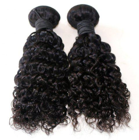 Online Jerry Curly Natural Color 100 Percent Brazilian Virgin Hair Weave 2pcs