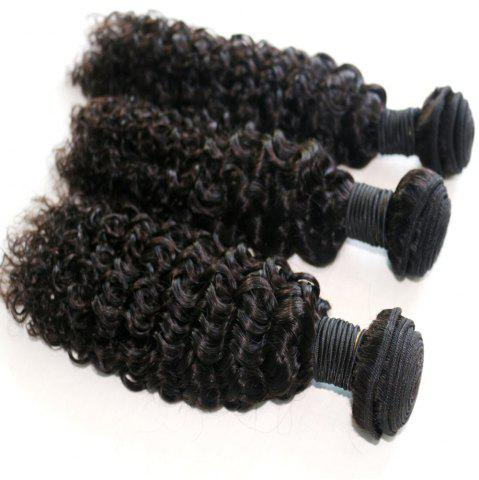 Affordable Jerry Curly Natural Color 100 Percent Brazilian Human Virgin Hair Weave 3pcs