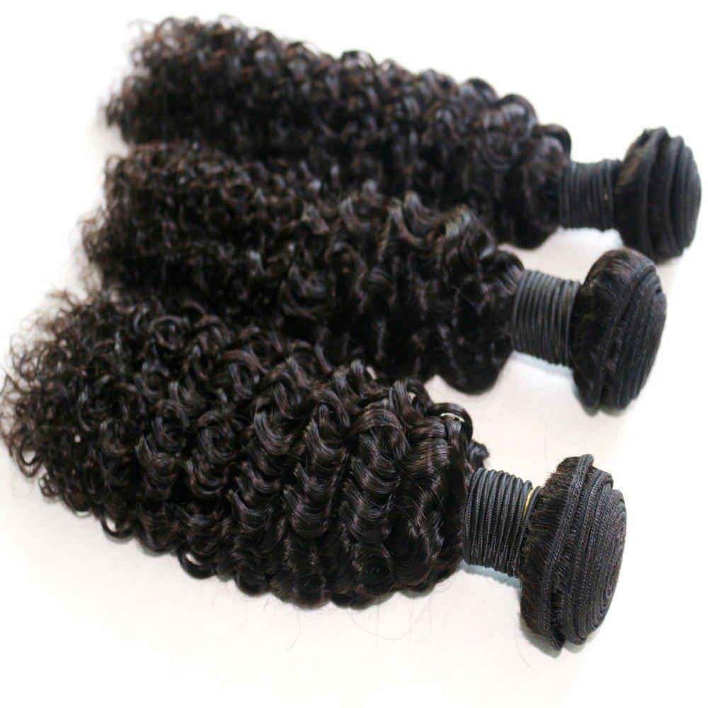 Discount Jerry Curly Natural Color 100 Percent Brazilian Human Virgin Hair Weave 3pcs
