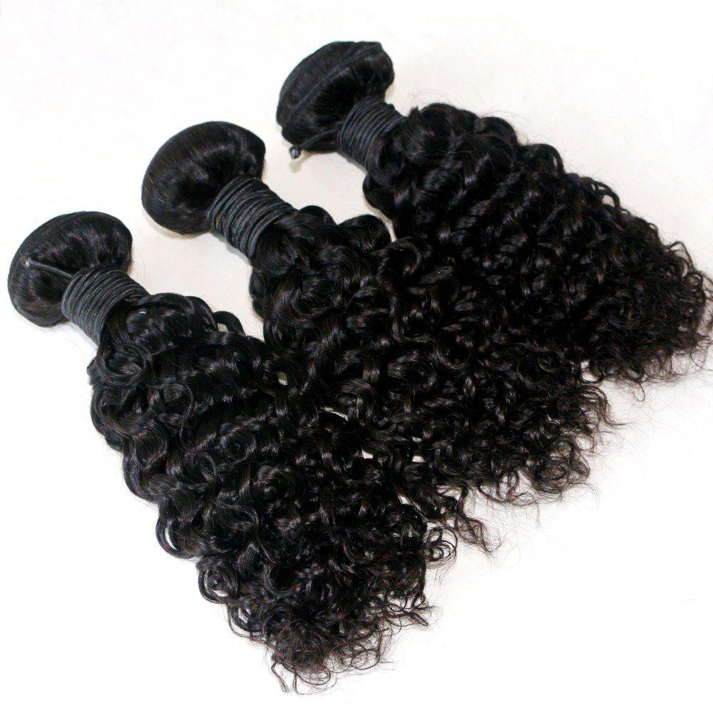 Online Jerry Curly  Brazilian Human Virgin Hair Weave 4pcs