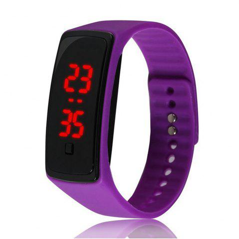 Montre-bracelet de silicone d'enfants de montre de Digital de la mode V5 LED