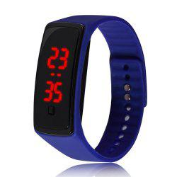 Montre-bracelet de silicone d'enfants de montre de Digital de la mode V5 LED -