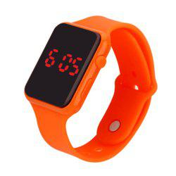 V5 Brand Unisex Rubber LED Date Sports Bracelet Digital Wrist Watch -